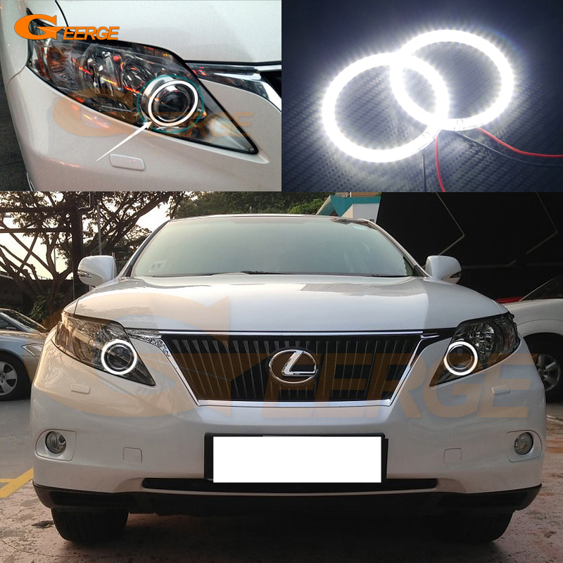 For Lexus RX450h RX350 RX270 2010 2011 2012 Excellent led Angel Eyes Ultra bright illumination smd led Angel Eyes Halo Ring kit<br>