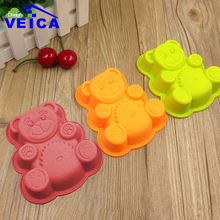 Teddy Bear shape big silicone Cake mould Crown shaped silicone Jelly pudding mold DIY gifts(China)