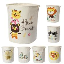 New waterproof Laundry Hamper cartoon animals Clothes Storage Baskets Home decoration storage barrel kids toy organizer basket(China)