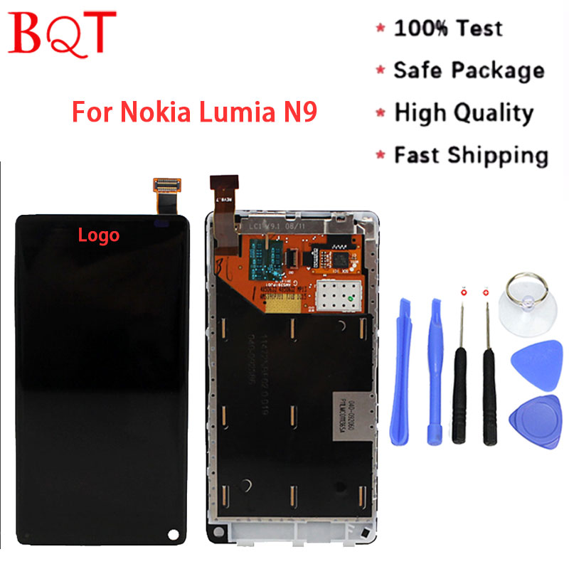 High Quality For Nokia N9 LCD Screen Display Touch Screen Digitizer With Frame Full Assembly <br><br>Aliexpress