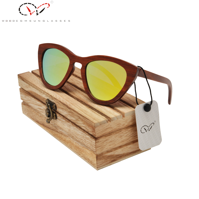 Polarized Bamboo Sunglasses Women Printed Red Yellow Cat Eye Women Wood Sunglasses Hippie Bamboo Sunglasses Women<br><br>Aliexpress