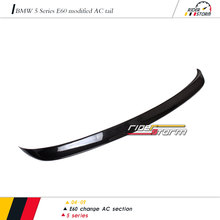 AC style Carbon Fiber Auto Car Parts Vehicle tuning Spoiler for BMW 5 Series E60 545i 550i 2004-2009