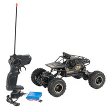 1/16 Monster Remote Control Vehicle 2.4GHZ 4WD Shaft Drive RC Truck Off-Road Racing Car RC Crawler RTR Toy Car(China)