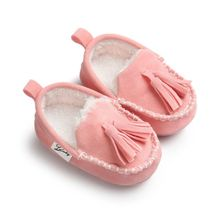 2017 Winter Baby Pu Leather Infant Suede Boots Baby Moccasins Newborn Princess Baby Shoes(China)