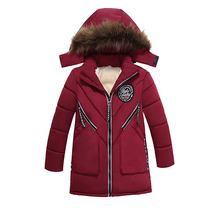 High Quality Boys Thick Down Jacket New Winter Long Sections New Kids Warm Coat Clothes Boy Hooded Down Outerwear Kid Clothes