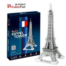 Candice guo! 3D puzzle architectural 3D paper model simple version jigsaw game Eiffel Tower(China)