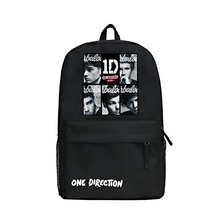 Zshop What Makes You Beautiful Boy's Backpack One Direction Daypack Fashion Famous Singer 1D Backpack Cool High School Bag(China)