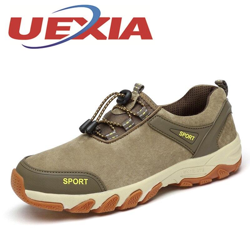 Plus Size 45 Casual Shoes Men Breathable Soft Leather Shoes Outdoor Sport Sneakers Men Spring Autumn Lace Up Men Mountain Shoes<br>