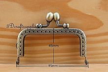 purse frame purse clasp sewing bag metal frame 3 3/8 inch x 1 3/4 inch anti bronze B48
