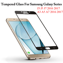 Buy 9H Anti-Knock Full Cover Tempered Glass Samsung Galaxy J3 J5 J7 A3 A5 A7 2016 2017 Screen Protector Protective Film for $1.02 in AliExpress store