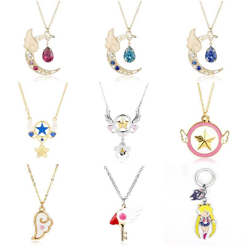 Magic Wand Necklace Cardcaptor Star Pendant Anime for Cardcaptor Sakura KK