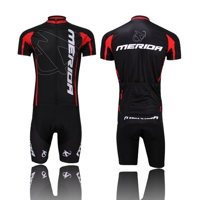 2017 Pro Team Merida Bike Cycling clothing/Cycling wear/ Cycling jersey Bicycle Outdoor Sportswear Short Sleeve Suite Black<br><br>Aliexpress
