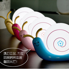 1pc Creative cute night light LED energy-saving USB charging small bedroom bedside lamp baby snail small wall sconce