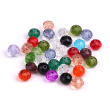 2MM Crystal Glass Czech Beads 200pcs/lot Clear Crystal Beads Faceted Glass Rondelle Beads Crafts Materials For Jewelry Making(China)