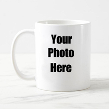 Free shipping Personalised Custom white coffee Mug ceramic tea cup with your Photo Text logo(China)