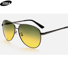 VEGA Best Day Night Driving Glasses Men Women HD Vision Driver Sunglasses At Night 2081(China)