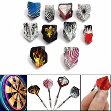 30Pcs/10Sets Cool Sports Mixed 2D Bling Darts Flights Laser Tail Wing PET High Quality Bullseye Target Game Dart Accessories(China)