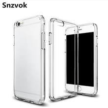 Snzvok 1mm Ultra Thin Crystal Transparent Soft TPU Case For iphone X 7 8 plus 6G 6s 6 Plus 6s plus 4G 4s 5G 5s 5C SE Phone cover(China)