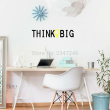 Think Big Quotes Wall Decal Creative Bulb Lettering Vinyl Sticker for Home Decoration