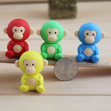 Free ship!1lot=36pc!Creative cartoon cute Monkey animal rubber eraser/ stationery for children students/gift toy eraser