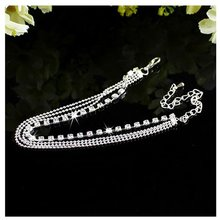 1Piece White Color Crystal Foot Chain Women Anklet Jewelry Ankle Bracelet Unique Design Hot(China)