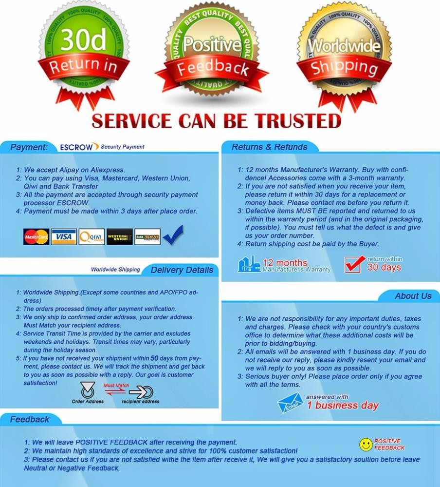service and warranty