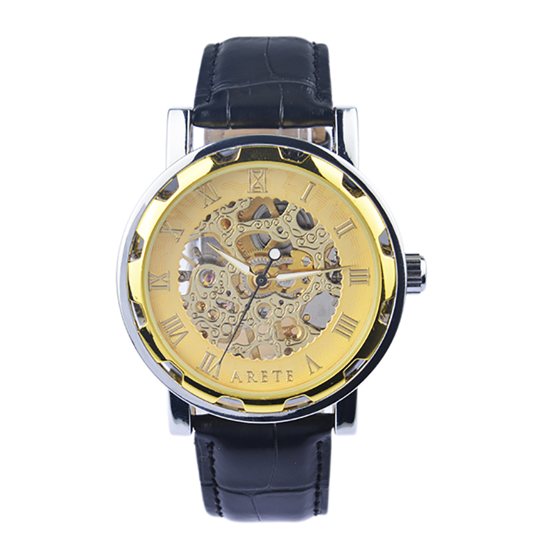 Mens Mechanical Watch Male Business Wrist Classic Hollow Simple Fashion Casual Genuine Leather Luxury Men Formal Wrist Watches<br>