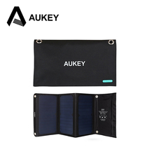 AUKEY 21W Solar Charger ,Solar Panel with Dual USB Port for apple iPhone 6s 6 Plus, Android, Samsung, HTC, LG, Nexus,and More(China)
