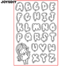 BUBBLE ALPHABET CUTE GIRL scraspbook diy  photo cards account rubber stamp clear stamp transparent stamp Handmade card stamp