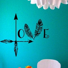Arrow Feather Love Wall Decal namaste Vinyl Sticker Art Decor Bedroom Design Mural home room trendy modern