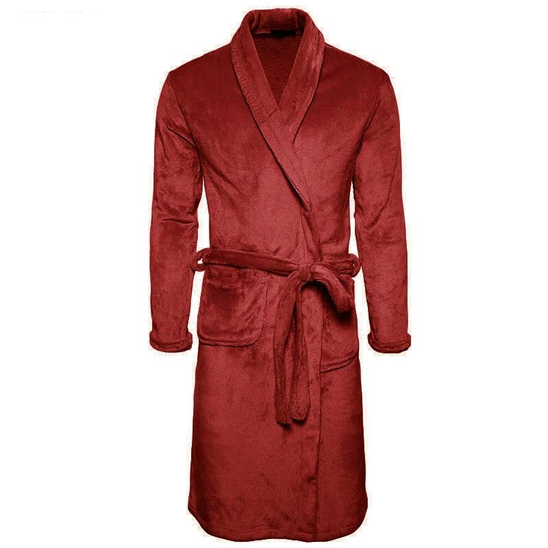 M-3XL Man Women Soft Fleece Bathrobe Autumn Winter Kimono Bath Robe Bathrobes Dressing Gown Towel Thick Warm Winter Robes Pajama