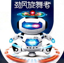 New 2017 Funny Baby Educational Toy Music Dance Rotation Robot Electronic Toys Kids Birthday Gifts Original Box