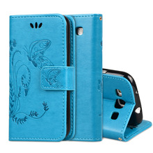 S3 Butterfly Crazy Horse Leather Case For Samsung Galaxy S3 S III i9300 Duos i9300i S3 Neo i9301 Wallet Cover Stand Phone Case