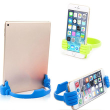 New Universal Big thumb For Mobile Phone tablet PC Stents Holder useful cute adjustable Bracket telephone accessories