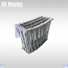 20ft Straight Tension Fabric Banner Pop Up Display Trade Show Advertising Stand,High Quality Exhibition Backdrop (Only Frame)