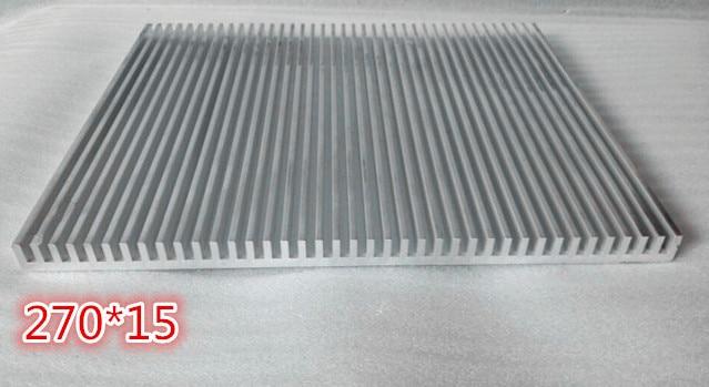 Aluminum Radiator Cooling Fin Power Development Board Model airplane GPS heat dissipation 270*15*100mm High-power heatsink<br>