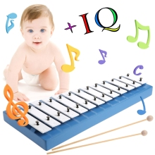 12 Notes Wooden Children Kid Xylophone Glockenspiel Musical Instrument Toy Music