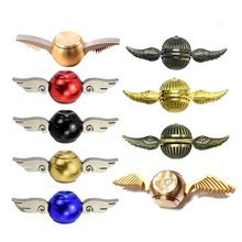 Metal Brass Fidget Spinner Blue Metal Harry Potter Cupid Spinner Gold Finger Hand Spiner Stress figet Classic Toys Spinning Top(China)