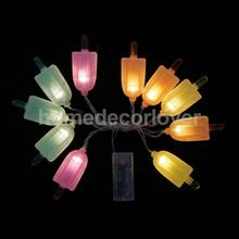 Color Ice Cream LED Bulbs String Light Battery Opetated Party Decor 1.65m