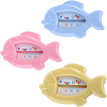 Drink Float Thermometer Plastic Fish Toy Educational Wash Water Temperature Meter Swimming Baby Bath Toys for Children(China)