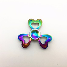 15 Style Fidget Spinner Metal Finger Hand Spinner Dazzling Colorful Cool Stress Wheel Cube Toy Figit Spiner Adults children Gift