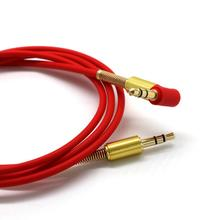 3.5mm Popular Jack Elbow Male to Male Stereo Headphone Car Aux Audio Extension Cable Cord for HTC/Mobile Phones July18