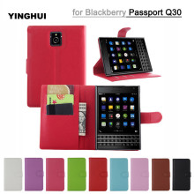 Luxury Wallet PU Leather Case Cover For Blackberry Passport Q30 Flip Protective Cell Phone Shell Back Bags Funda with Card Slots
