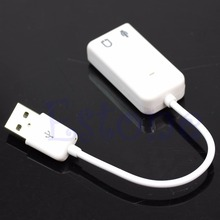 External USB 2.0 to Virtual 7.1CH Audio Sound Card Adapter For PC MAC Laptop - L059 New hot
