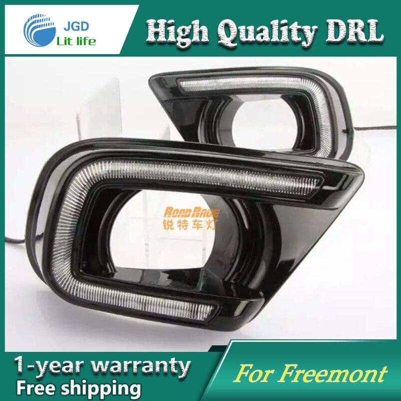Case For Fiat freemont Turning Signal Relay Waterproof Car DRL 12V LED Daytime Running Light Fog Lamp<br>