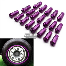 Hight Quality Billet Aluminum Car Styling 20pcs D1 Spec Racing Purple Wheel Lug Nuts M12X1.5 Universal Fit for Ford Toyota