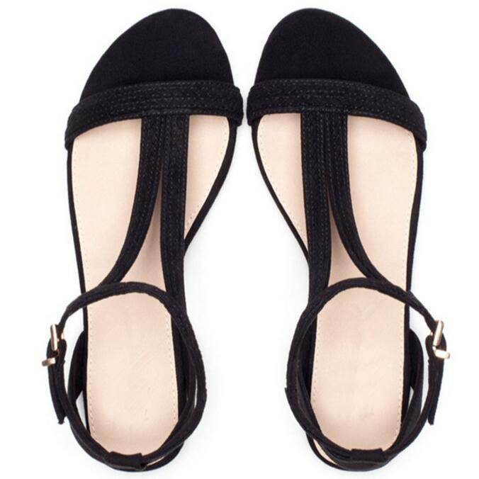 New 2017 summer women sandals European fashion simple flat sandals with flat sandals Open toe braid with hollow womens sandal<br><br>Aliexpress