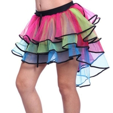 Buy Sexy Woman skirts Womens Costume Tutu Skirts rainbow Girls Ball Party Colorful Petticoat Tutu Skirt Underskirt Fancy Mini Skirt for $7.00 in AliExpress store