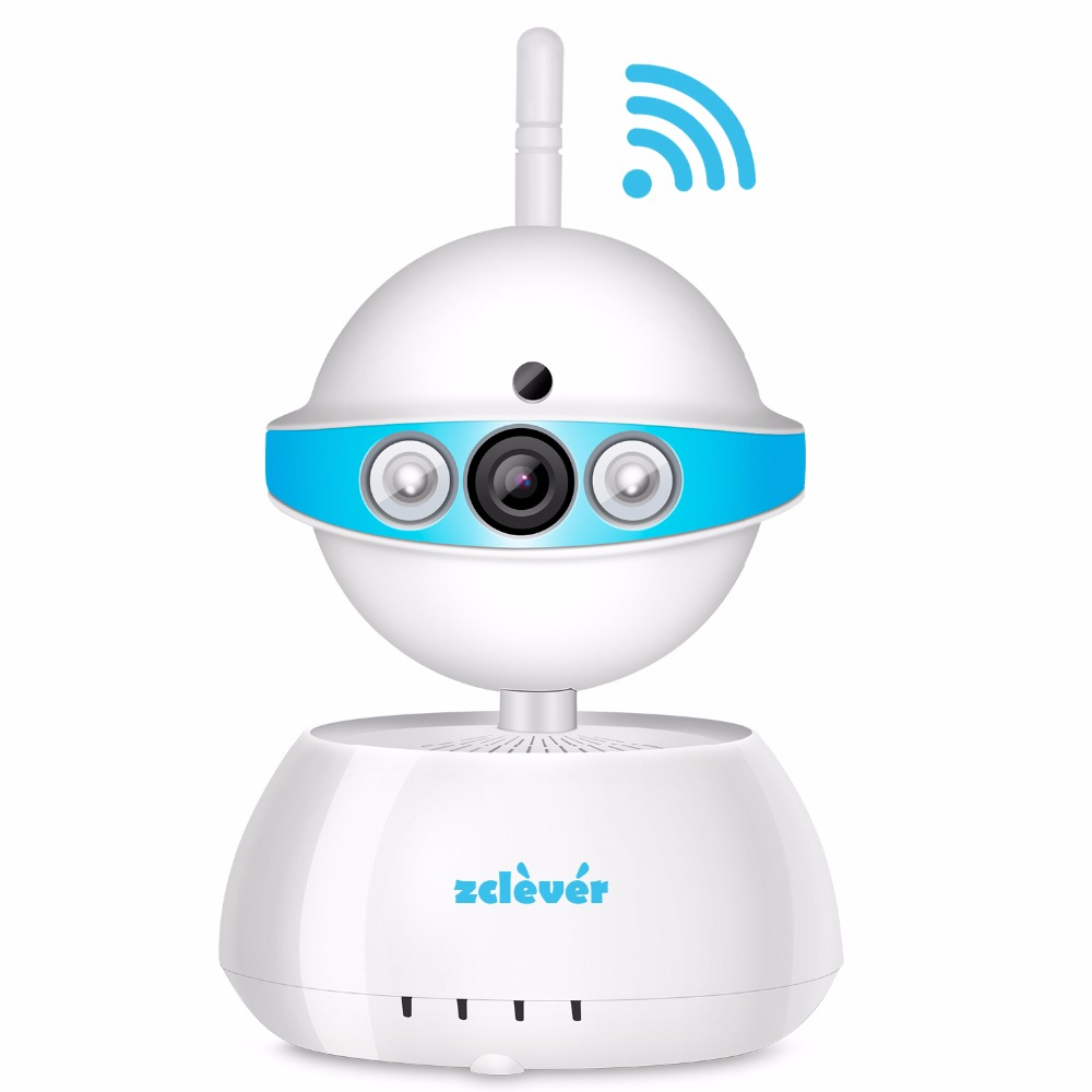 ZCLEVER IP Camera Wireless Wifi 720p HD Security Surveillance Video System Baby Monitor Two Way Audio &amp; Night Vision<br>