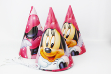 Party Supplies Cheering Toys Paper Hat Cartoon hat Lovely Minnie Mouse Cap Child Favors 2015 Hot Sale 12pcs/lot